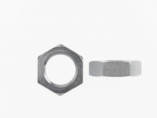 Brennan FS0306-10 - Bulkhead Lock Nut - 5/8 in O-Ring Boss, (SAE) 7/8–14 Thread, Steel, Pack of 15