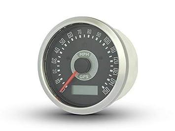 85mm Digital GPS Velocímetro mph Retro Clásico Estilo para Proyecto Personalizado Coche Moto Colector: Amazon.es: Coche y moto