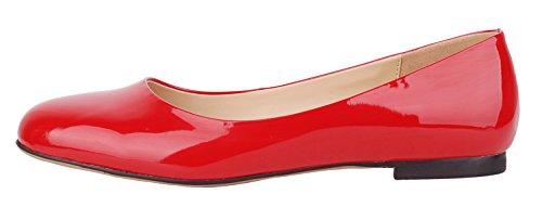 Verocara Pump102, Mocassins pour femme B-Red patent