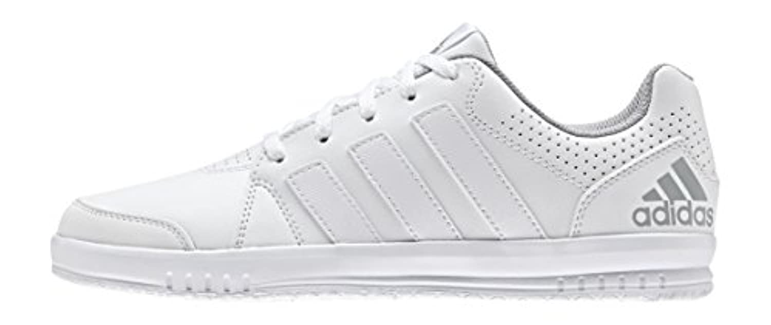 adidas LK Trainer 7, Unisex Kids' Running Shoes, Weiß (Ftwr White/Eqt Pink S16/Mid Grey S14), 1 UK