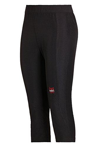 Montagna per Mello's Lady Pescatore ideale Escursionismo Trekking Pantalone Stretch Easy Nero 18wp8