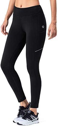 Naviskin Women's Fleece Lined Thermal Tights Running Yoga Leggings Winter Outdoor Pants Zip Pocket