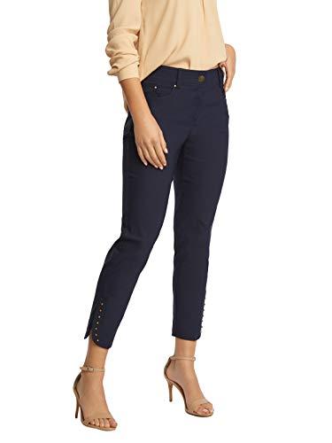 (89th + Madison Women's Studded Cuff Stretch Straight Leg Pants)