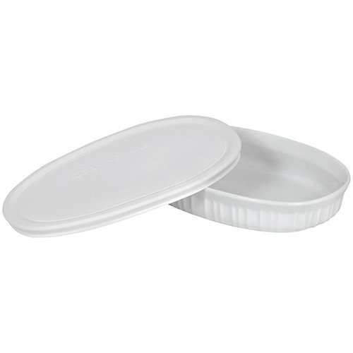 CorningWare French White 23-Ounce Oval Dish 2-Pack