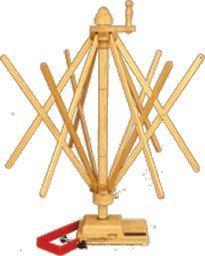 Strauch Yarn Swift / Skeinwinder Table Model Oak by Strauch Fiber Equipment
