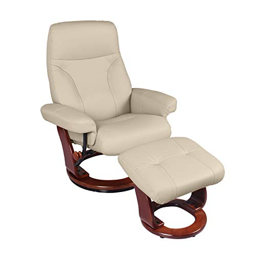 Coja by Sofa4life Bennett Leather Recliner and Ottoman ()