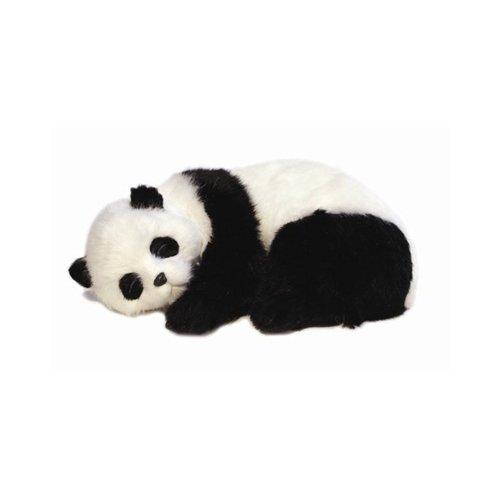 Lizzy® Precious Petzzz Kuscheltier, lebensecht, süßer Welpe mit Atembewegungen, ideal als Geburtstagsgeschenk Panda