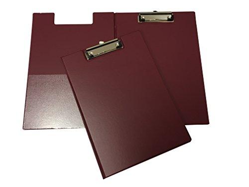 Janrax A4 Burgundy PVC Foldover Clipboard Pvc Clipboard