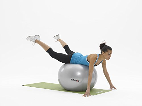 Swiss Ball Workout Poster Set, with Training Recommendations for Optimum Results.