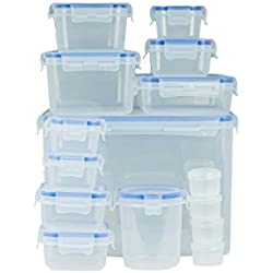 Lock & Stock Food Storage Containers, Food Storage Set (15-Container Set)