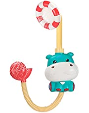 Monland Electric Shower Bathing Hippo Toy Baby Bath Toys Cartoon Hippo Electric Shower Head for Children Parent- Toys Green