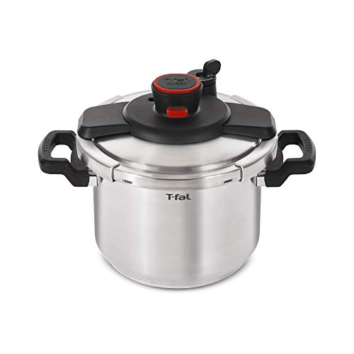 T-fal-P45009-Clipso-Stainless-Steel-Dishwasher-Safe-PTFE-PFOA-and-Cadmium-Free-12-PSI-Pressure-Cooker-Cookware-8-Quart-Silver-7114000494