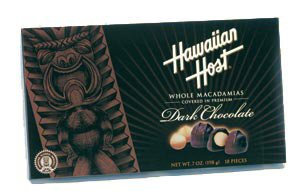 Price comparison product image Hawaiian Host - Premium DARK CHOCOLATE Covered Whole Macadamia Nuts