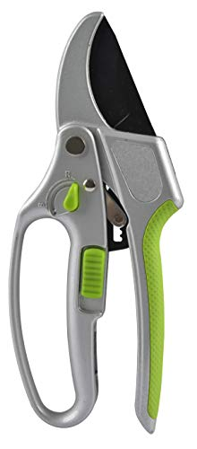 Garden Guru Professional Dual Mode Garden Clippers - Ratchet Hand Pruning Shears with Ergonomic Grip - Makes Tough Cuts Easy