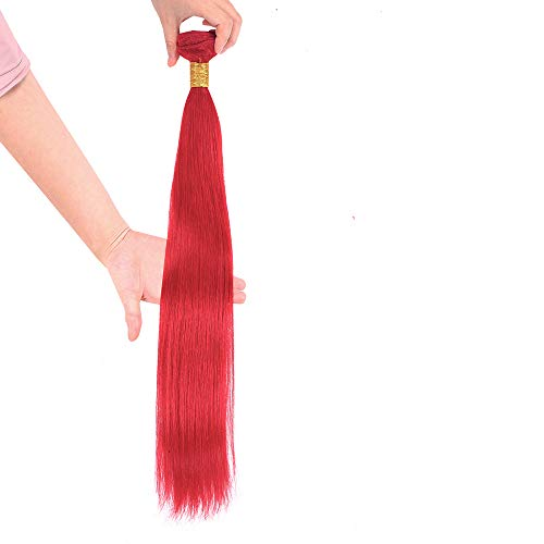 NEWNESS 8A Brazilian Straight Hair Red Silky Straight Virgin Hair Weave Weft Human Hair Extension