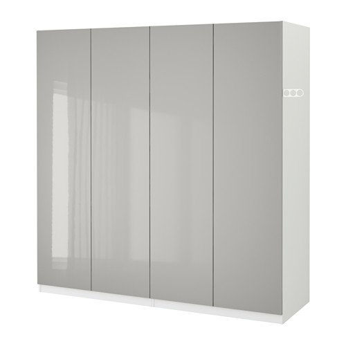 size 40 00ae3 b2694 Amazon.com: Ikea Wardrobe, white, Fardal high-gloss light ...