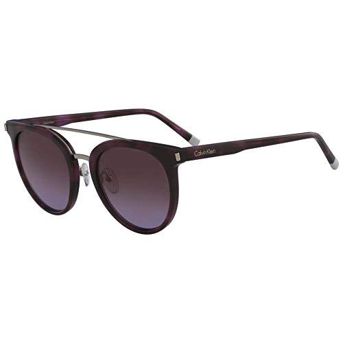 Calvin Klein Plastic Frame Purple Lens Unisex Sunglasses CK4352S5321528 Calvin Klein Plastic Frames