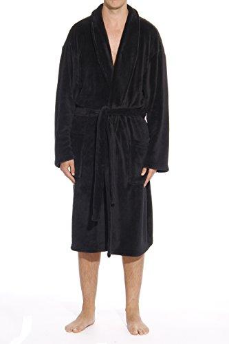 #followme 46902-BLK-XXL Plush Robe Robes for Men Black