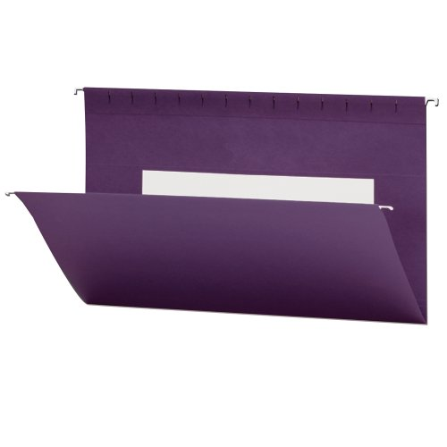 Smead Hanging File Folder with Interior Pocket, Legal Size, Purple, 25 per Box (64486)