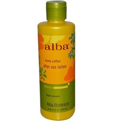 Alba Hawaiian After Sun Lotion Kona Coffee (Alba Organics Hawaiian Kona Coffee After-Sun Lotion - 8.5 Fl Oz by Alba Botanica)