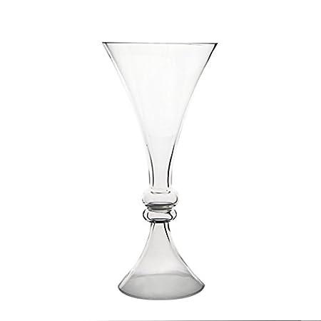 Cys Gtr165 6p Glass Reversible Trumpet Vase Glass Reversible Trumpet