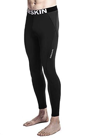 DRSKIN Compression Cool Dry Sports Tights Pants Baselayer Running Leggings Yoga Rashguard Men (S, DABB11)