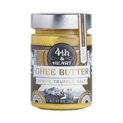 4Th & Heart, Ghee, Salted White Truffle, Pack of 6, Size - 9 OZ, Quantity - 1 Case by Tavagh