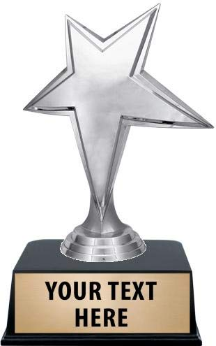 Crown Awards Star Trophies with Custom Engraving, 6