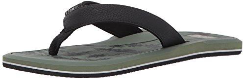 Reef Men's Machado Day Prints Sandal, Black/Green Hawaii, 11 M US (Sandals Print)