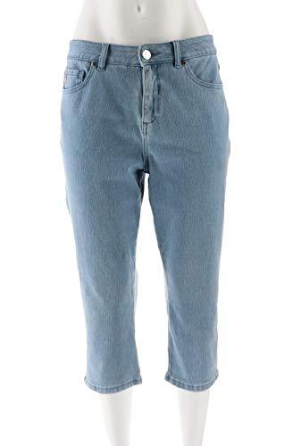 Belle Kim Gravel Flexibelle Capri Jeans Light Wash 22W New A303655 from Belle by Kim Gravel