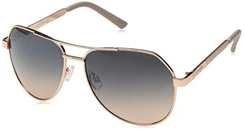 Jessica Simpson Women's J5726 Rgdnd Non-Polarized Iridium Aviator Sunglasses, Rose Gold Nude, 60 ()