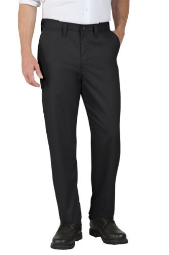 Dickies Occupational Workwear LP700BK 36x32 Polyester/Cotton Relaxed Fit Men's Premium Industrial Flat Front Comfort Waist Pant with Straight Leg, 36
