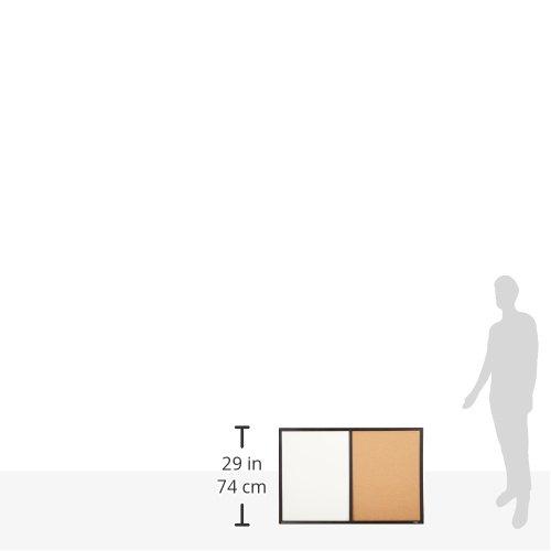 Quartet Dry Erase Board & Cork Board Combination, 2 x 3 Feet, Whiteboard & Corkboard, Black Frame (95223B) by Quartet (Image #5)