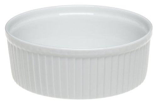 Pillivuyt Porcelain 4-Cup, 6-1/2-Inch Classic Pleated Souffle Dish by Pillivuyt