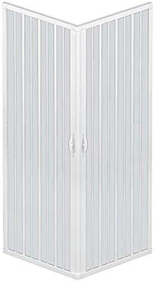 RL Mampara de Ducha 70x100 CM Rectangular de PVC Mod. Acquario con Apertura Central: Amazon.es: Hogar