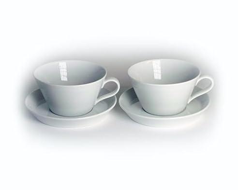 Arzberg Form Tric 2er Set Cafè-au-lait-Tassen 0,35Ltr. weiß ...