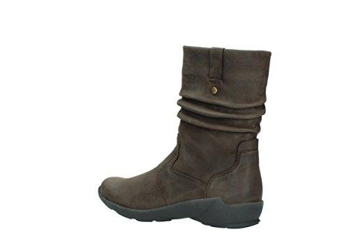 01572 Womens Marron Luna Nubuck Boots Wolky B5Hgw8