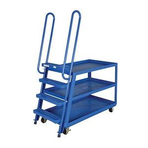 Vestil Hi-Duty Stock-Picking Ladder Trucks - Steel - 28X52