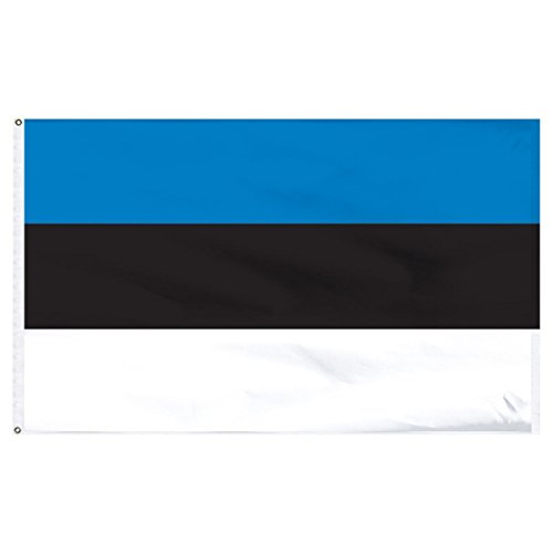 3x5 Estonia Baltic Republic European Flag 3'x5' House Banner Grommets premium PREMIUM Vivid Color and UV Fade BEST Garden Outdor Resistant Canvas Header and polyester material FLAG