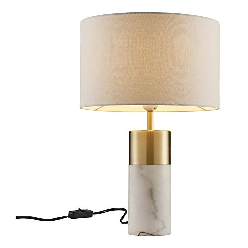Versanora VN-L00055 Trenton Table Lamp, White Marble/Antique - Tables Marble Antique