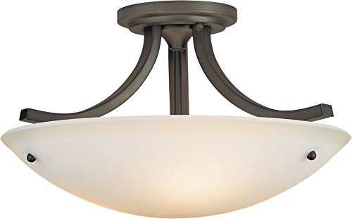 Feiss SF189ORB Gravity Glass Semi Flush Ceiling Lighting, Bronze, 3-Light (16