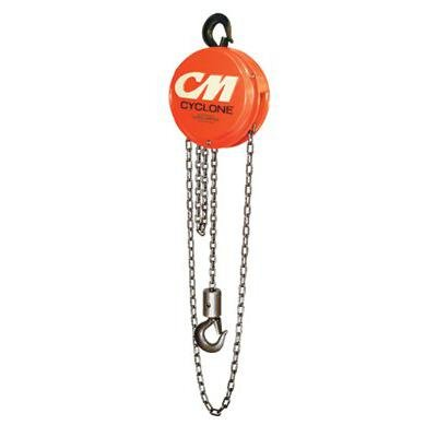 Columbus McKinnon 4631 Cyclone Hand Chain Hoist with Hook, 8 ton Capacity, 10' Lift Height
