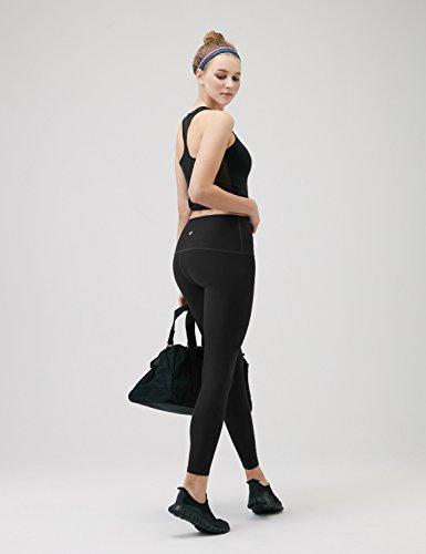 Large Product Image of Tesla TM-FYP52-BLK_Medium Yoga Pants High-Waist Tummy Control w Hidden Pocket FYP52