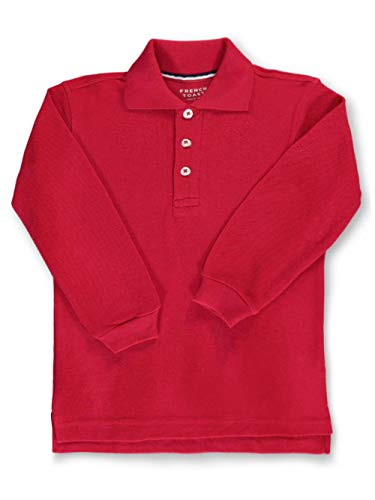 French Toast L/S Pique Polo - red, 2t