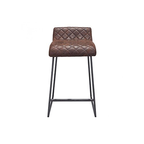 Zuo Modern Father Counter Stool, Vintage Brown