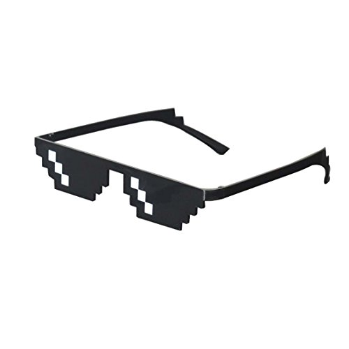 Thug Life Sunglasses Pixelated Mosaic Glasses Party Glasses Deal With It MLG - Meme Sunglasses