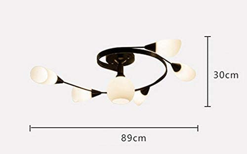 WGFGXQ Ceiling American Countryside Ceiling Living Room Lighting Master Bedroom LuRestaurant Nordic Black Personality Creative Light E27 Art Design