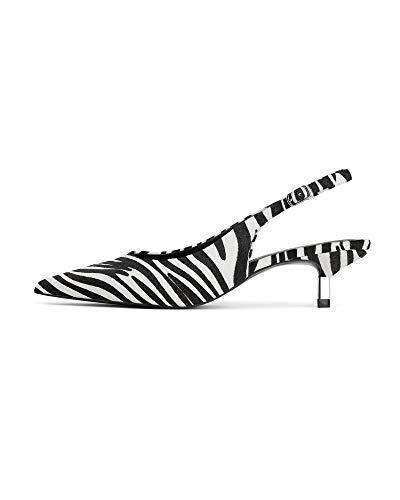 animale aperte Scarpe pelle donna da in L Zara 001 Indietro 3830 Stampa zqp5OgwO