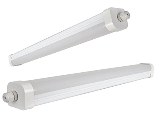 45W 5ft Industrial LED Batten Tube Light Surface Mount or Hanging IP Rated  Triproof Fittng in Cool White T8 Fluorescent Replacement Ceiling Home or