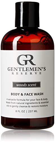 Gentlemen's Reserve 2 in 1 Body & Face Wash - All Natural & Organic - Good for Normal, Dry Skin or Sensitive Skin (Woods, ()